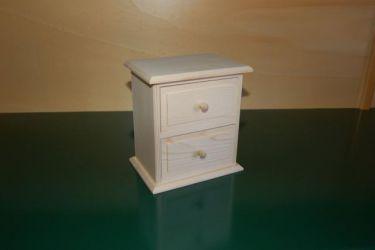 Petite commode 2 tiroirs en bois en bois boissellerie cretin - Petite commode de rangement ...